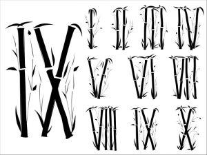 Roman Numeral Fonts Styles