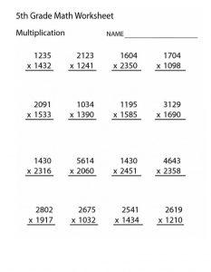 Multiplication Worksheets Grade 10 Printable
